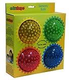 Edushape  See-Me Assorted Sensory Balls, Translucent, 4 Pack