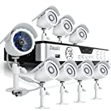 Zmodo KDB8-BARBZ8ZN-500GB 8-Channel H.264 DVR with 500GB HDD and 8 CMOS 480TVL 65-Feet IR Outdoor Security Cameras (Silver)