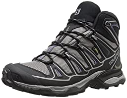 Salomon Women\'s X Ultra Mid 2 GTX W Hiking Boot, Detroit/Black/Artist Grey-X, 6 B US