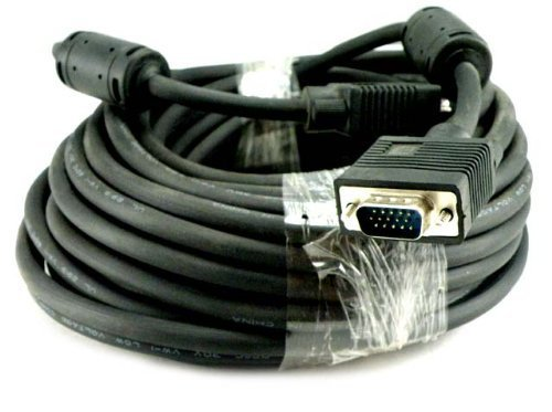 Importer520 100 Ft Svga Hd15 Super Vga Male To Male M/M Monitor/Lcd/Projector Cable