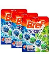 Bref Bloc Nettoyant WC Power Activ Pin 50 g - Lot de 3