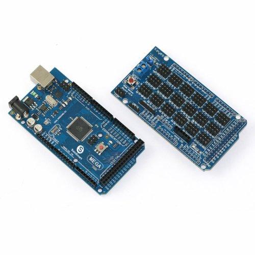 Sainsmart Mega2560 + Sainsmart Mega Sensor Shield V2.0 For Arduino Atmel Atmega Avr Atmega8U2 Usb