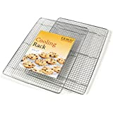 Goson Heavy Duty, Oven Safe, Dish Washer Safe - Set of 2 - 12 x 17 Inches Cooling Rack