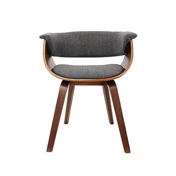 The Home Deco Factory hd3519Retro sedia legno/metallo/tessuto Grigio 61x 57x 72cm