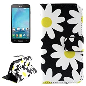 Flower Pattern Horizontal Flip Magnetic Buckle Leather Case with Holder & Card Slots & Wallet for LG Optimus L90