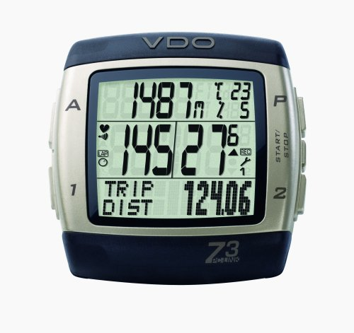 VDO Z3 PC Link Altimeter Heart Rate Monitor and Cycle Computer with PC Syncing Cable and Training Analysis Software