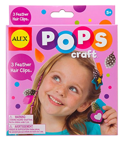 ALEX Toys POPS Craft 3 Feather Hair Clips - 1
