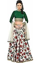 Khazanakart georgette printed Red Semi Stitched Bollywood Designer Lehenga Choli