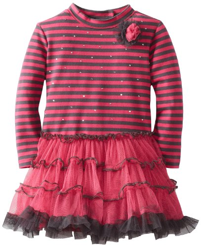 Hot Deal Kate Mack Baby-Girls Infant Bon Vivant Dress, Fuchsia/Pink, 24 Months