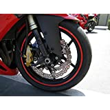 Red Reflective Wheel Rim Stripe Decal Tape for Motorcycle Wheels 17