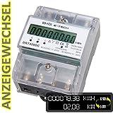 B+G E-Tech DRT428DC - digitaler Stromzähler Drehstromzähler Wattmeter für DIN Hutschiene , Energiemessgerät mit Wattanzeige 3x230/400V 20(80)A