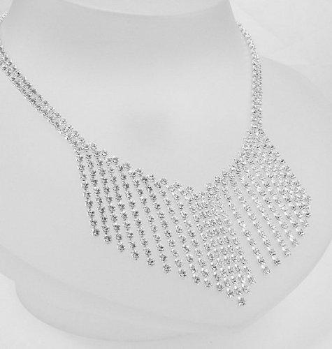 Lj Designs Diamante V Shaped Waterfall Necklace (K13)