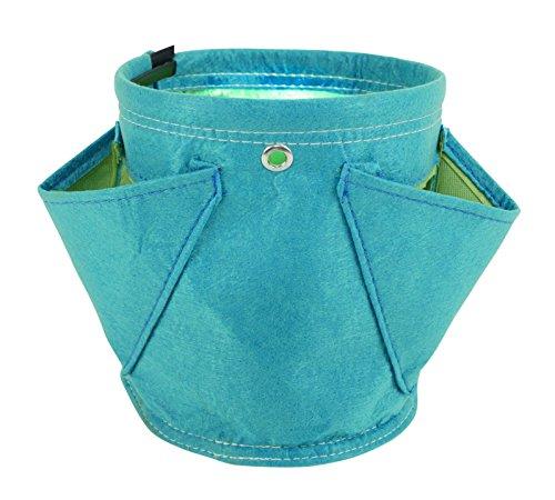 BloemBagz Erbario: Vaso per erbe aromatiche piccolo con 3 tasche Colore: Sea Struck