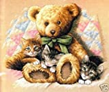 Dimensions Teddy & Kittens Counted Cross Stitch Kit: 14x12