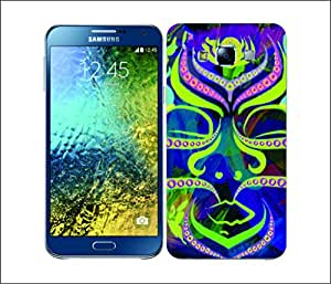 Galaxy Printed 2497 Neon Pattern Mask Hard Cover for Samsung A3