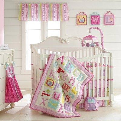 4 Piece Owlphabet Crib Bedding Set