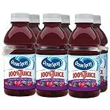 Ocean Spray 100% Juice Cranberry, Concord Grape, 6 Count, 10 Ounce