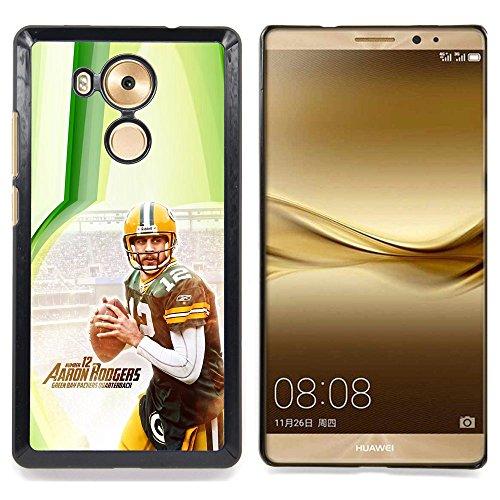 Aaron Rodger 12 NFL Custodia protettiva Progettato rigido in plastica King Case For Huawei Mate 8