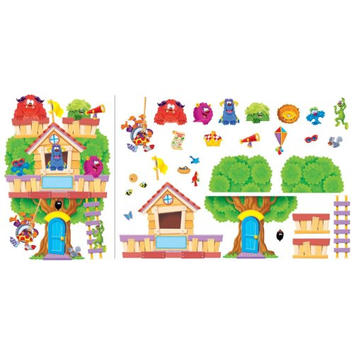 Trend Enterprises Furry Friends Clubhouse Bulletin Board Set (T-8313)