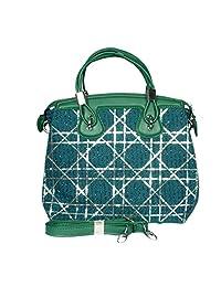 Raeen Plus Glittery-Green Handbags For Women
