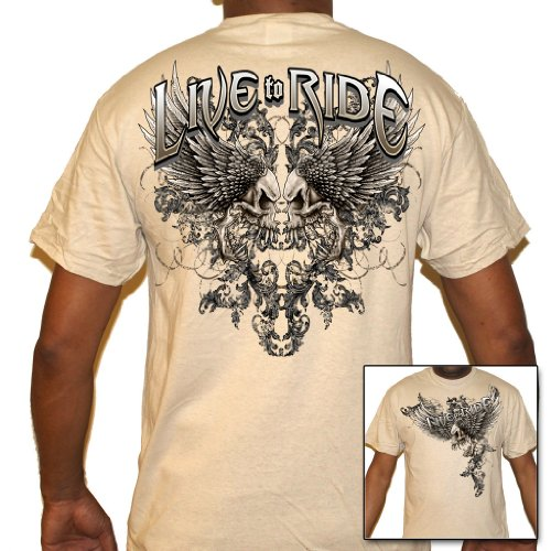 Biker Life USA Men's Live to Ride Biker T-Shirt