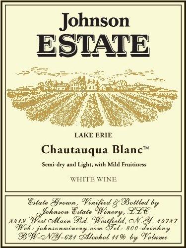 Nv Johnson Estate Lake Erie Chautauqua Blanc White Blend 750 Ml