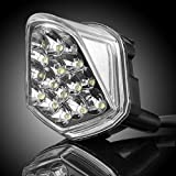JDM Style Clear Lens 6000K Xenon White 16 LED Top Upper Front Headlight Windscreen Light Lighting Direct Replacement For Yamaha 2006-2007 06 07 YZF R6