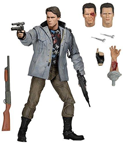 """NECA Terminator Scale Ultimate T800 Tech Noir Action Figure, 7"""""""