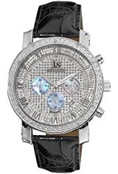 Joshua and Sons Men's JS-28-01 Dazzling Diamond Chronograph Watch