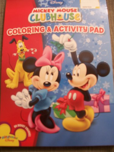 Disney Mickey Mouse Clubhouse Coloring & Activity Pad ~ Christmas Edition (Minnie Under Mistletoe) - 1