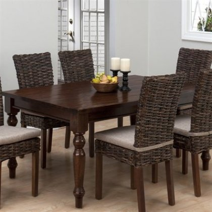 Rectangular Fixed Top Dining Table