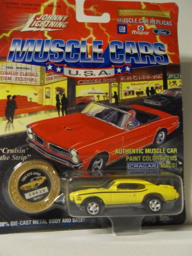 Johnny Lightning Muscle Cars U.S.A. 1969 GTO Judge Yellow Die Cast Vechicle by Playing Mantis