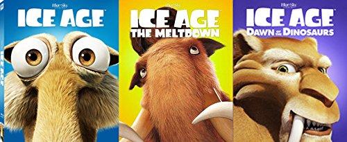 Ice Age Icons 3-Blu-ray Set - Ice Age, Ice Age 2: The Meltdown, Ice Age: Dawn of the Dinosaur 2-Movie Animated Family Fun Bundle Set