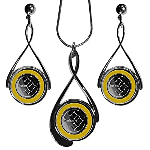 Pittsburgh Steelers Tear Drop Jewelry Set by Siskiyou Gifts Co, Inc.