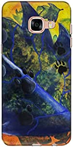 The Racoon Grip For Dog Lovers hard plastic printed back case/cover for Samsung Galaxy C5
