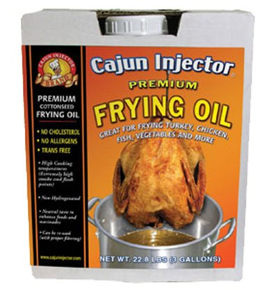 Cajun Injector Cottonseed Frying Oil - 3 Gallons