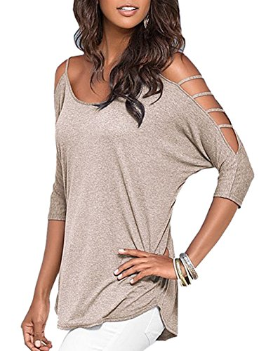 ZEARO donna t-shirt casual camicia top blouse