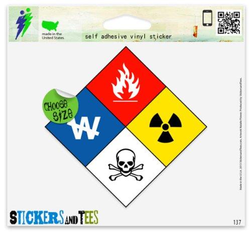 Hazmat Hazardous Materials Danger Car Sticker Indoor Outdoor 5