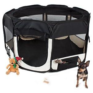TecTake Parc à chiots chien chaton chat enclos pour chiens 125 x 125