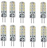 ELINKUME 10 Stk. G4 LED 24 SMD 3014 Warmweiss Energiesparlampe Stiftsockel Lampe Birne 1,5 Watt 110 Lumen