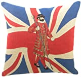 Evans Lichfield Union Jack Beefeater Cushion