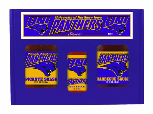 8 Pack Northern Iowa Panthers Tailgate Hot Sauce BBQ Salsa