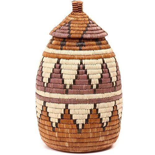 Fair Trade Zulu Ilala Palm Ukhamba Basket, #49757