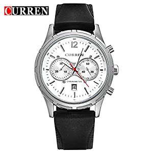 CURREN 2016 New Fashion Men's Quartz Watch Sport Date Waterproof WristWatch 8066G
