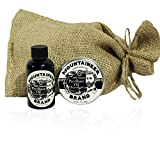 Pre-Shave Oil & Post -Shave Balm Combo by Mountaineer Brand: Eucalyptus Scent--Soften before and Soothe after shaving