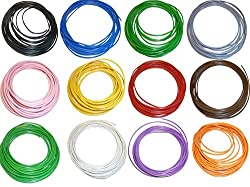 Maker and Hacker Branded 20 meter Multistand wires for DIY Electronics Projects (4 colors 5 mts each),Red