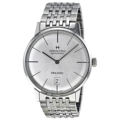 Hamilton Intra-Matic Silver Dial Mens Watch H38455151 from Hamilton