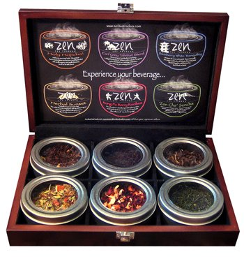 Wooden Tea Chest Sampler