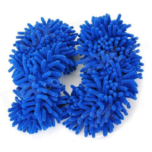 Niceeshop(Tm) 1Pair Multifunction Chenille Fibre Washable Dust Mop Slippers-Random Color