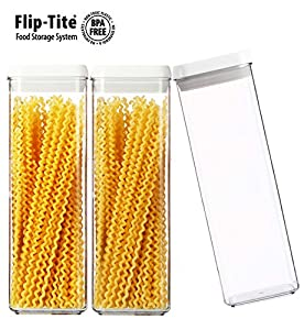 Functional Storage Container Felli Flip Tite Canister Collection Set Of 3 4 Wx4 Dx12 H